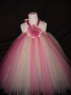 Apple Blossom Tutu Dresssizes 6 months  1 year old by KayKaysTutus, $40.00