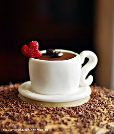 Coffee cup cupcake (in Polish with translator) Paleo Recipes Easy, Easy Dinner Recipes, Fondant Cupcakes, Cupcake Cakes, Korean Street Food, Coffee Cookies, Cookbook Recipes, Party Cakes, Fun Drinks