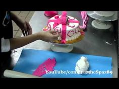 Decorating a Fondant Cake for a Girl & Boy :) - YouTube