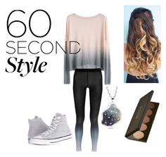 """""""60 seconds of beauty"""" by emmagirlfashion on Polyvore featuring NIKE, Becca, Converse, ombre and 60secondstyle"""