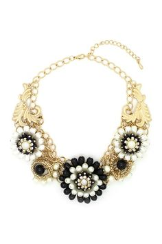 Flower My Neck Bib Necklace by Eye Candy Los Angeles on @HauteLook