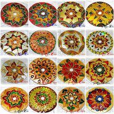 MANDALAS NATALINAS...   Flickr - Photo Sharing! Fruit Crafts, Cd Crafts, Paper Crafts For Kids, Christmas Crafts For Kids, Crafts To Make, Arts And Crafts, Cd Wall Art, Cd Art, Recycled Cds