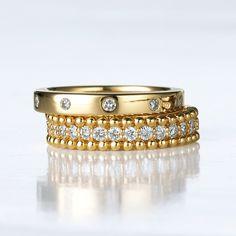K18 nhẫn kim cương