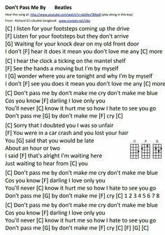 Guitar Songs, Guitar Chords, Ukulele, Beatles Songs, The Beatles, You Dont Love Me, My Love, Knock Knock, Sheet Music