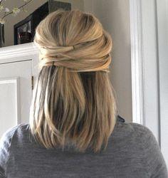 elegant half up hair...super easy by mavis