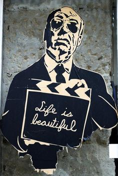 paris-street-art- graffiti...Alfred Hitchcock