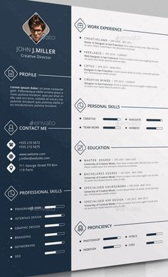 Professional Resume Templates / Simple CV Template by GraphicParadise Cv Design Template, Best Resume Template, Creative Resume Templates, Resume Ideas, Free Resume, Web Design, Resume Design, Curriculum Vitae Online, Resume Review