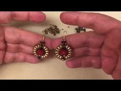 """Video Tutorial - DIY - Beaded Earrings """"Halo"""" - YouTube  This pattern uses 3mm and 4mm bicones, superduo beads, 11/0s, and an 8mm focal bead (looks like a rondelle)"""