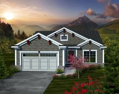 House Plan 97191   Ranch Plan with 1662 Sq. Ft., 2 Bedrooms, 2 Bathrooms, 2 Car Garage