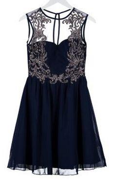 Party Blue Dress by LITTLE MISTRESS @girlmeetsdress