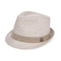 Aerusi Unisex Hatter Trilby Straw Manhattan Short Brim Fedora Hat with Band ** Continue to the product at the image link.