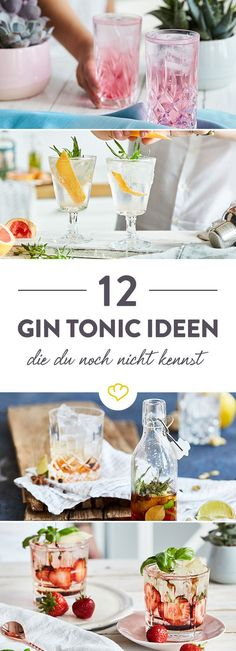 No gin and tonic is like any other. Here you will find not only 12 fantastic variations you may not know, but also tips and tricks. Informations About 12 Gin-Tonic-Varianten … Drinks Alcoholicas, Drinks Alcohol Recipes, Cocktail Drinks, Yummy Drinks, Non Alcoholic Drinks, Cocktail Recipes, Cocktail Shaker, Vodka Cocktails, Vodka Martini