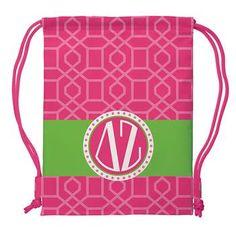 Delta Zeta Drawstring Backpack Sorority Great Gift Bag by Thepreppynursegifts on Etsy