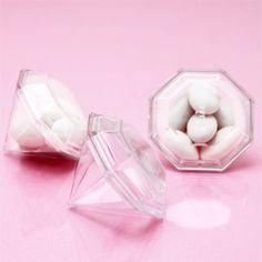 Clear Mini Diamond Favor Box - 12 pcs