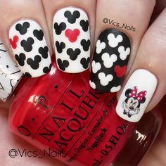 --Video Pin-- Super cute nail art for special days Disney Nail Designs, Valentine's Day Nail Designs, Nail Art Designs Videos, Halloween Nail Designs, Nail Art Videos, Easy Halloween, Nails Design, Nail Designs For Kids, Halloween Makeup