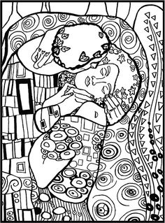 Art Auctions for Drawings – Viral Gossip Gustav Klimt, Art Klimt, Colouring Pages, Coloring Books, Free Coloring, Art Worksheets, Famous Art, Art Plastique, Teaching Art