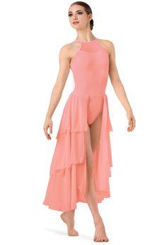 3 Tier Chiffon Lyrical Halter Dress | Balera™