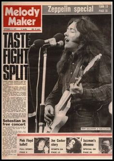 FB post Rory Gallagher's Taste 12 09 1970 Drunk Woman, Rory Gallagher, Odd Fellows, The Music Man, Information Overload, Joe Cocker, G Man, Love Now, That One Person