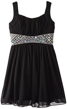 Amy Byer Big Girls' Chiffon Dress with Bejeweled Waist, Black, 7 Amy Byer http://www.amazon.com/dp/B00PXJUH74/ref=cm_sw_r_pi_dp_oyb4ub1RK55VF