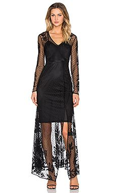 Bardot After Party Lace Dress in Black