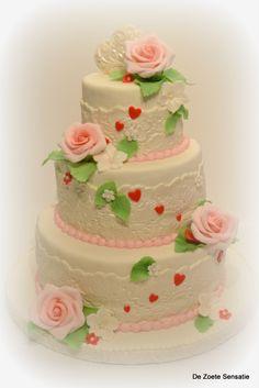 a lovely wedding cake