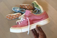 Tyler, The Creator has surprised fans with a pink iteration of his GOLF le FLEUR* x Converse One Star collaboration. Read more here.