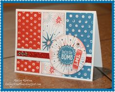 Keeley's Kreations: Close To My Heart's June Stamp of the Month -- Kaboom (S1406) Blog Hop! #DotEmbossingFolder