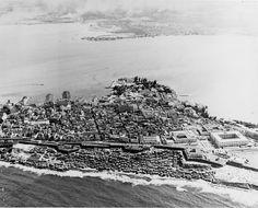 Vista aérea del casco antiguo de San Juan en 1952