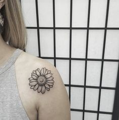 Dotwork Shoulder Tattoo by Ben Doukakis