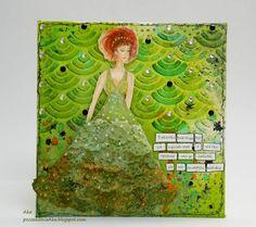 #canvas #dress #scrapbooking