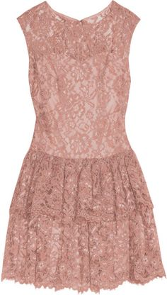 Notte By Marchesa Pink Lace Mini Dress