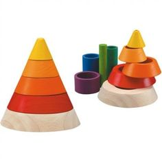 Plan Toys Cone Sorting Plan Toys Cone Sortingis a 9 piece toy set. It helps kids learn about height, depth, size, and sequence of sorting and stacking. children can make different shapes with the available pieces. Montessori Toddler, Montessori Toys, Toddler Preschool, Toddler Toys, Baby Toys, Kids Toys, Infant Toddler, Children's Toys, Montessori Materials