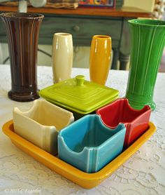 The Little Round Table: Napkin Holder / Utility Tray/Sugar Packet Caddy for office organization