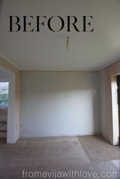 Give your room a whole new with this fabulous budget friendly wall panneling project. Your walls will pull the room together and give your home a much needed updated look. Faux Brick Walls, Statement Wall, Master Bedroom Makeover, Curtains With Rings, Board And Batten, Ship Lap Walls, Open Plan Kitchen, Wall Treatments, Bedroom Wall