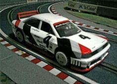 El Audi 90 Quattro correspondentes a las series IMSA es una máquina espectacular. Este de mi colección es de la marca Scalextric. Tracción a las cuatro ruedas y un comportamiento excelente en pista.