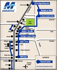 Las Vegas Monorail Map (and other transportation options)