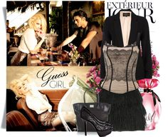 """""""Guess Girl: Flirty and Fabulous"""" by queenranya ❤ liked on Polyvore"""