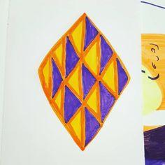 #pattern #geometric #repetition #symetry #play #purple #yellow #fibertippens #art #relaxing Purple Yellow, Art Work, Fiber, My Arts, Play, Drawings, Pattern, Prints, Painting