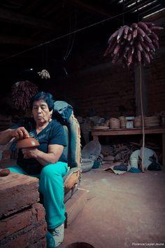 Consuelo Rendon Pena, white porcelain artist, Tzintzuntzan, Michoacan, Mexico.