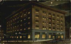 Hotel Rainbow By Night Great Falls Montana