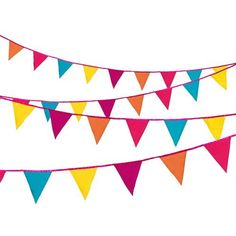 Tropical fabric bunting - 3 mtrs
