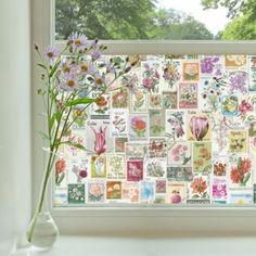 Purldeco Flower Stamps Window Film