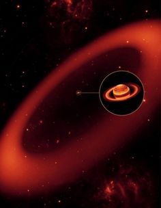 Saturn's Newest Ring Is Mind-Bogglingly Big. A giant ring around Saturn is even larger than thought, spanning an area of space nearly 7,000 times larger than Saturn itself, researchers say. - Scientific American