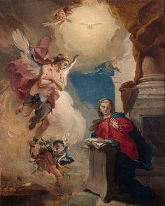 La anunciación Pintor: Giovanni Battista Tiepolo Museo del Hermitage.  Rusia