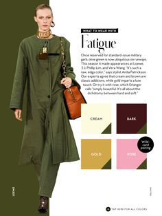 what to wear with InStyle Fall 2016 Fatigue