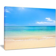 b3670e57af2 Shop Blue Waters Below Blue Sky - Seashore Photo Canvas Print - On Sale -  Free