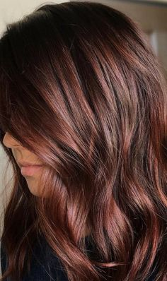 Fall Hair Color For Brunettes, Fall Hair Colors, Brown Hair Colors, Autumnal Hair Colour, Autumn Hair Color Auburn, Fall Red Hair, Black Hair Ombre, Ombre Hair Color, Winter Hairstyles