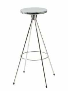 "Euro Style 06055MP2 Caroline-B Swivel Bar Stool, Chrome, Set of 2 by Euro Style. $232.42. Clean, minimalist design. Seat swivels. Durable steel frame. Chromed steel seat  Chromed steel base, welded Seat (11"" diameter) swivels Footrest height 11"" Available in counter height"