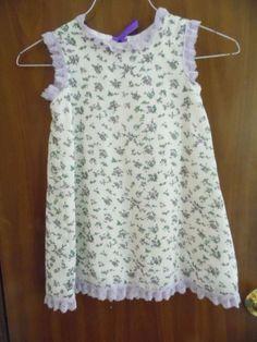 Dress Size 2 Little Girls Purple Summer Dress with Bloomers #Handmade #dress