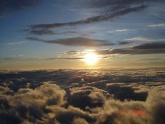 Picture of sunrise from hiking up the top of Mt. Fuji 2009.